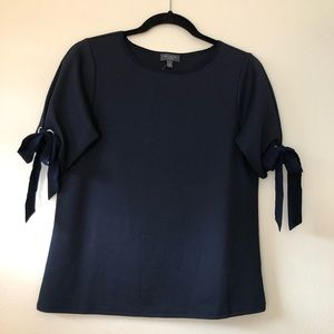 NWT Limited Collection Navy Short Sleeve Top XS